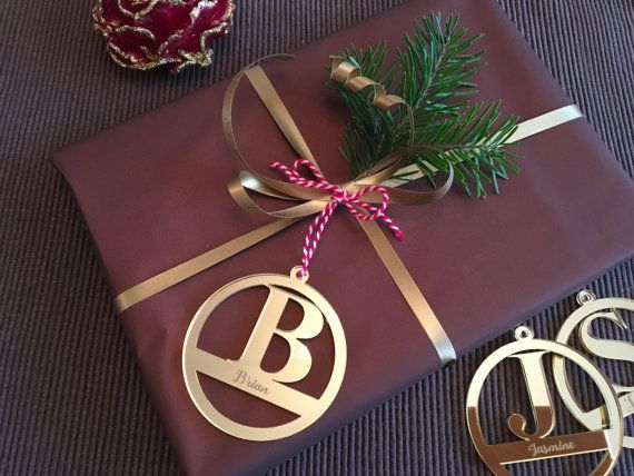 Personalised gift tags with initial Initial by FranJohnsonHouse