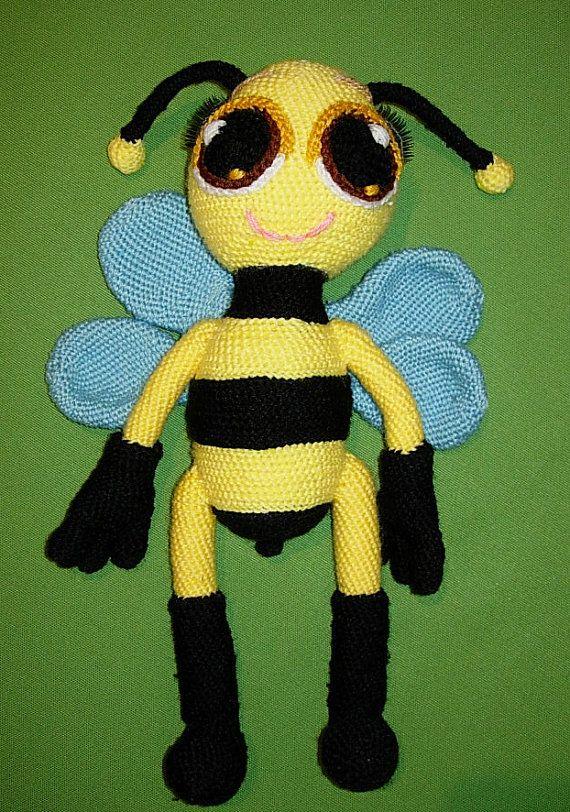 Amigurumi Bee PDF Pattern Bea the bee by CrochetExpression on Etsy, €2.90