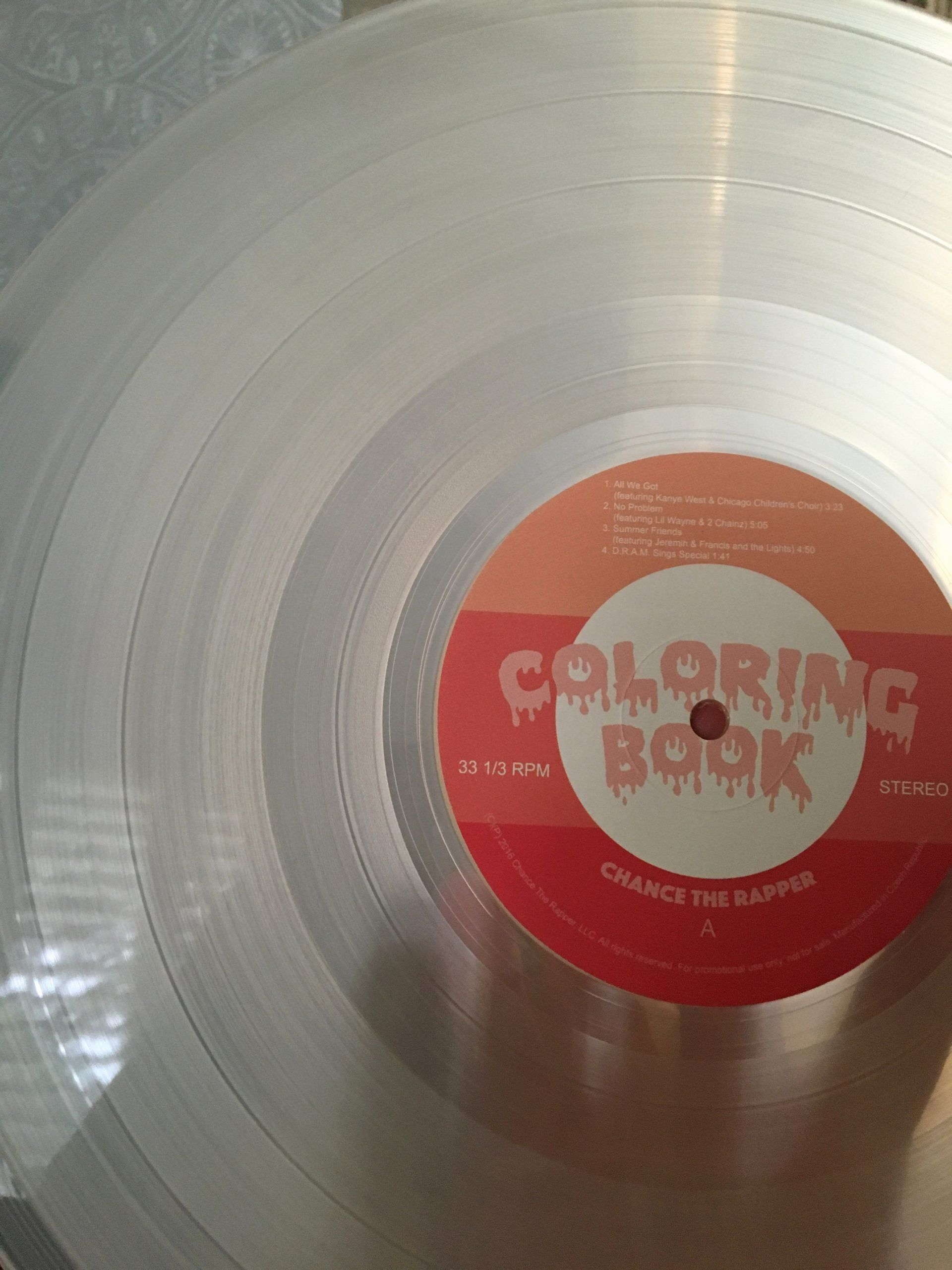 Coloring Book Track List Fresh Hip Hop Vinyl Vinyl Void Coloring Book Chance Coloring Book Album Chance The Rapper