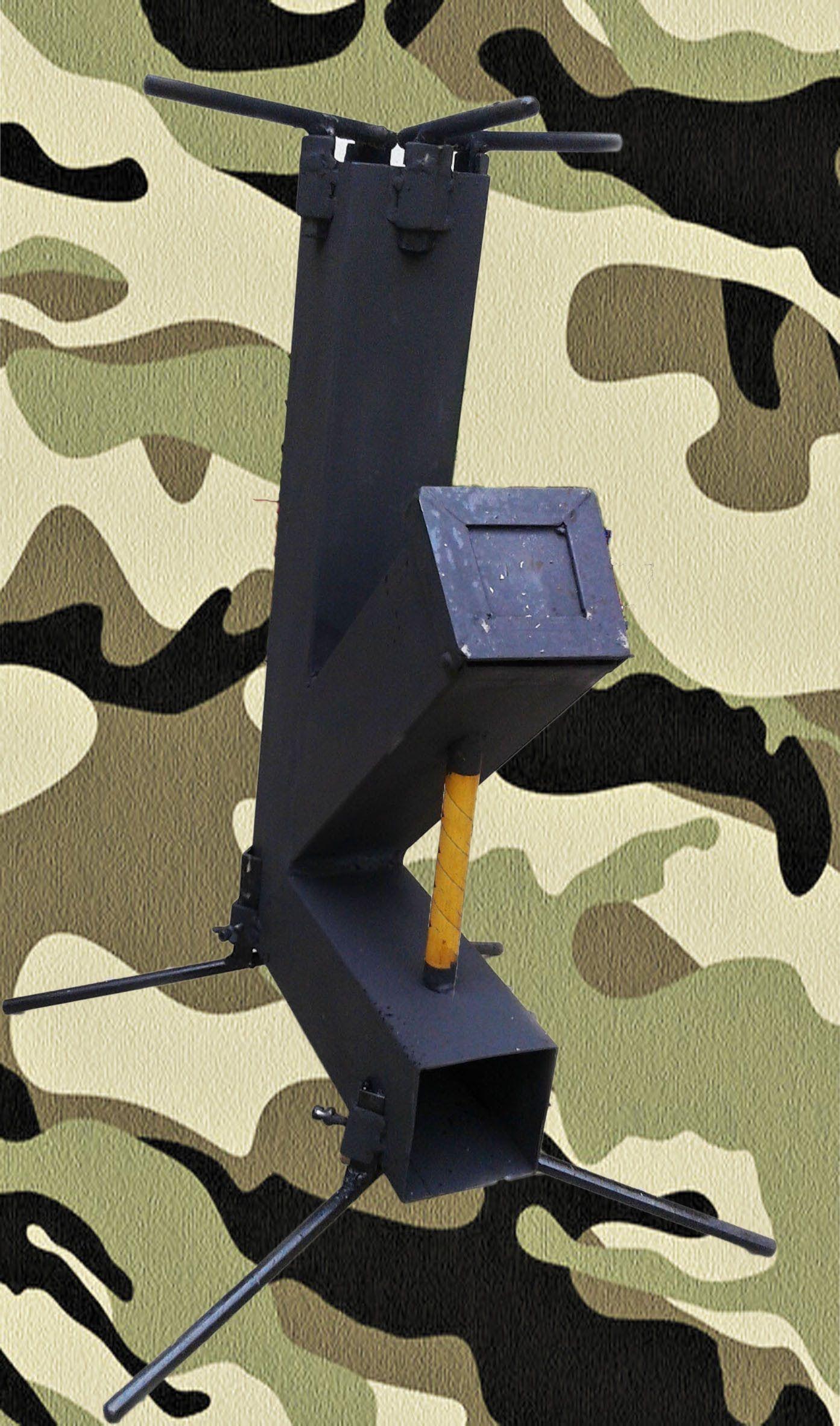 Cocina cohete transportable artesanal handmade rocket for Planos para fabricar una cocina cohete