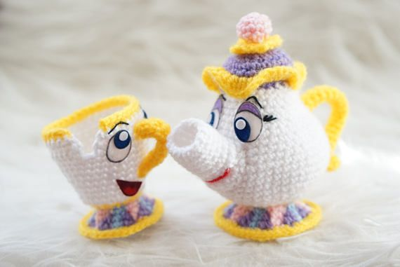 CHIP The Beauty and the Beast Amigurumi Pattern Disney Movie Chip ...