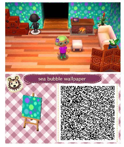 Sea Bubble Wallpaper by Quirkberry Animal Crossing New Leaf