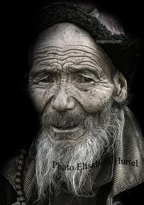 Les plus beaux portraits noir et blanc vieil homme du ladakh visages du monde pinterest Les plus beaux hommes du monde