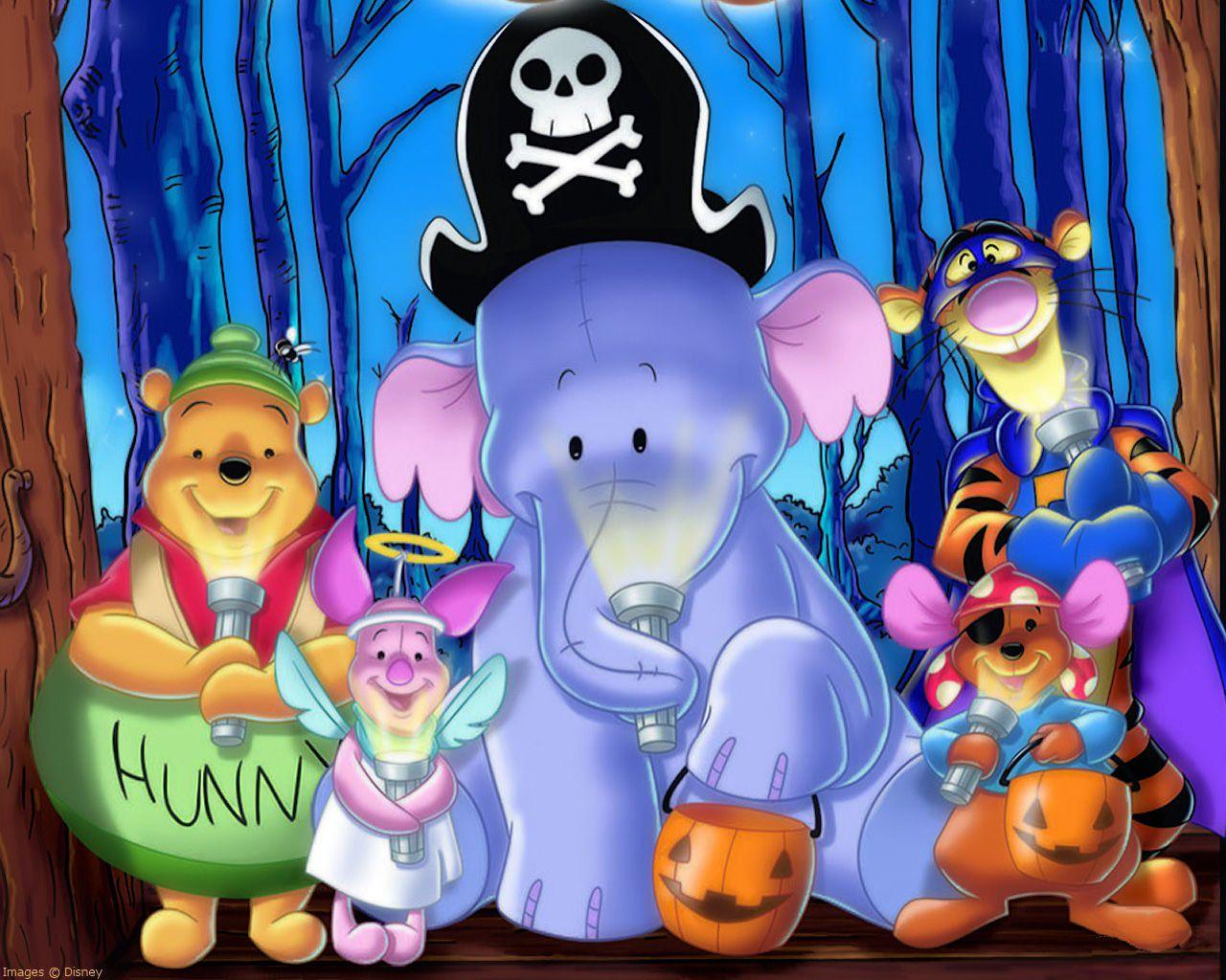 Cute Halloween Background 1280 1024 High Definition Wallpaper Winnie The Pooh Halloween Winnie The Pooh Cartoon Halloween Cartoons