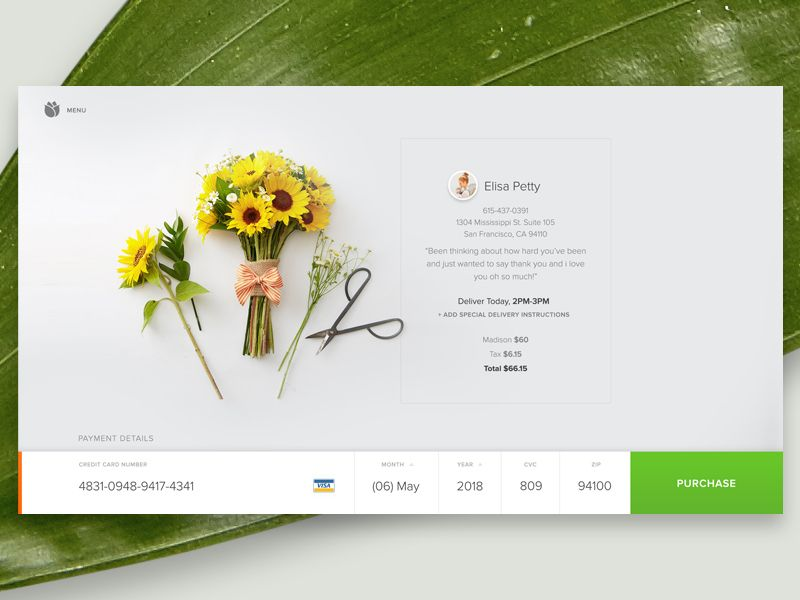 Bloomthat Credit Card Form Ui ux, User interface and - credit card form