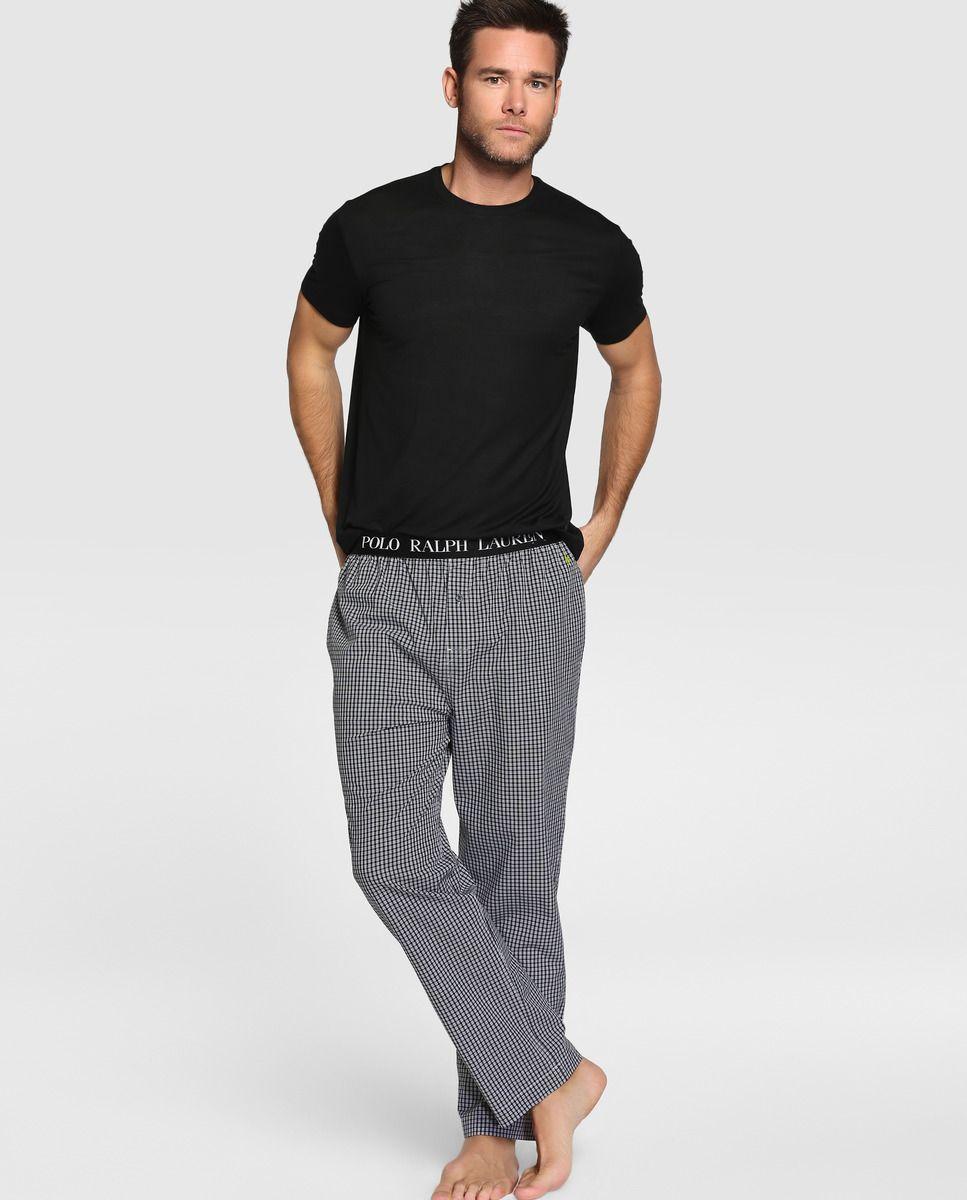 Inglés hombre · de de Ralph Camiseta Lauren · · manga pijama Polo Ralph de corta El Corte Polo Lauren negro Moda qZ8tR8