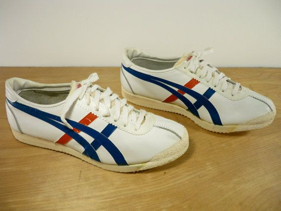 Vintage Asics Tiger Made in Japan Low Top Sneaker Hipster Kicks White  Leather Preppy Skater Shoes