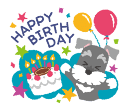 Feliz cumpleanos con perritos schnauzer