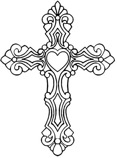 Heart Cross Cross Coloring Page Coloring Pages Cross Drawing