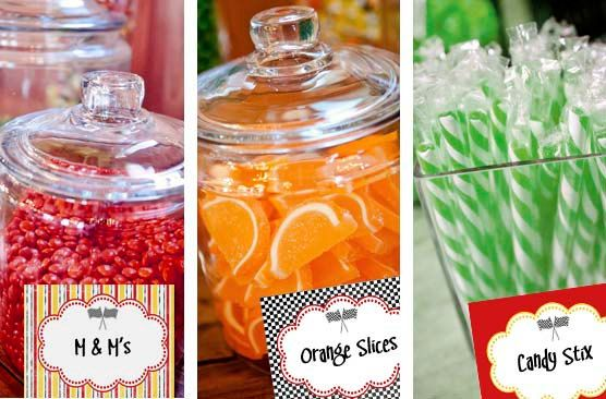 Printable Food Candy Buffet Labels - Disney Cars Birthday Baby Shower Party Line - Stick to Your Story