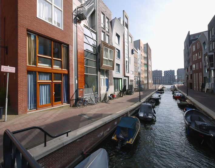 Grachtenpanden op het Java-eiland, Amsterdam - BNA