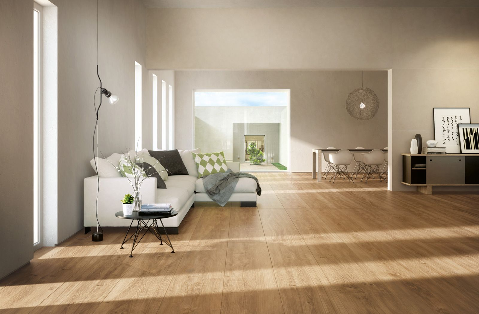 Simple Living Room Decor With Wood Like Tiles Komi Tile Collection From Ceramica Fondovalle Simple Living Room Decor Living Room Flooring House Flooring
