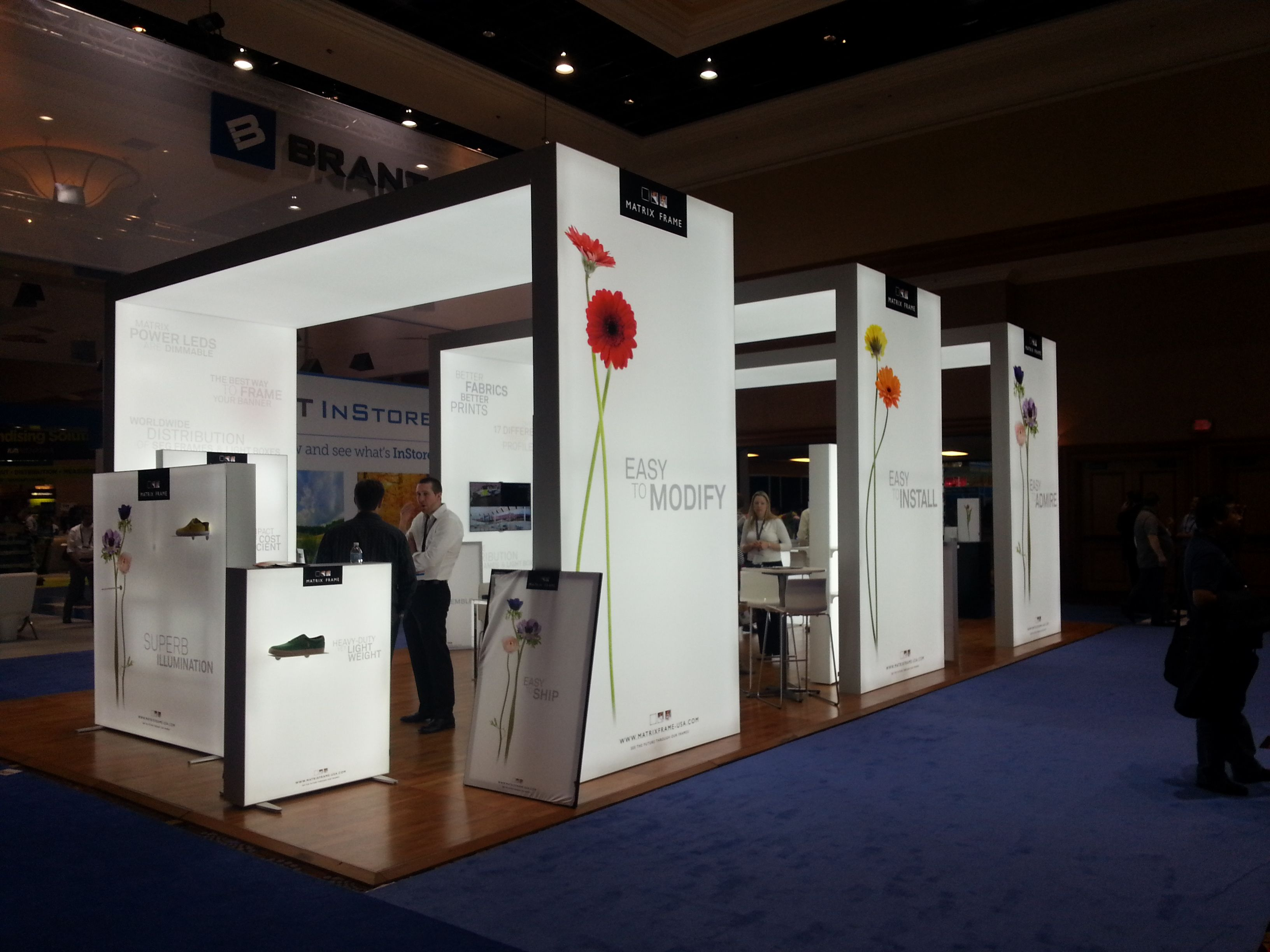 Exhibition Booth Requirements : Seen at global show matrix frame modern