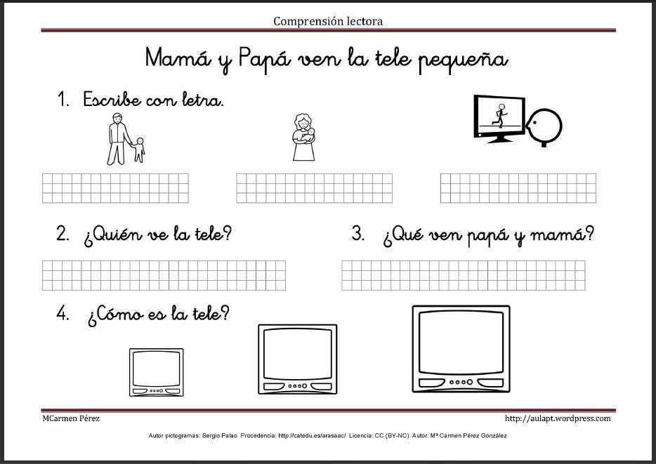 Pin von Lorentxu Perez auf Comprensión lectora | Pinterest