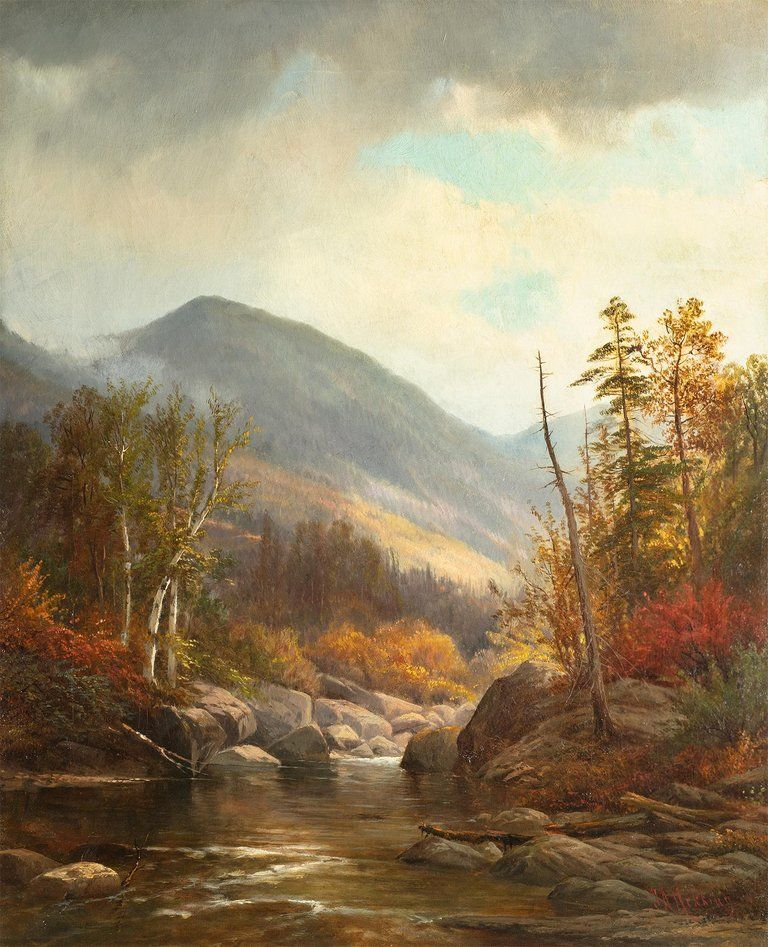 Joseph Antonio Hekking Autumn Landscape with River in