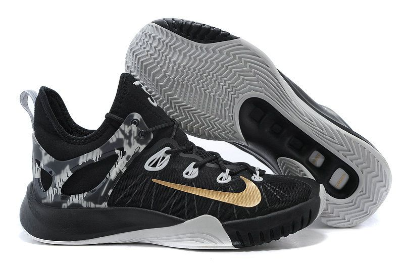 the best attitude dd14b 5524d Nike Zoom HyperRev 2015 Black White Metallic Gold 705370 071 Paul George PE