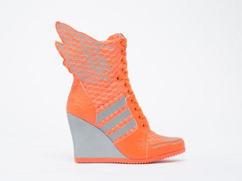 women's adidas originals jeremy scott athletic wings wedge shoes