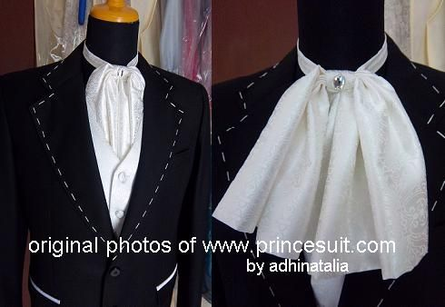 A stylish full set of a wedding suit for the Groom.