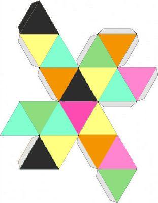 Geometric colored box shape printable