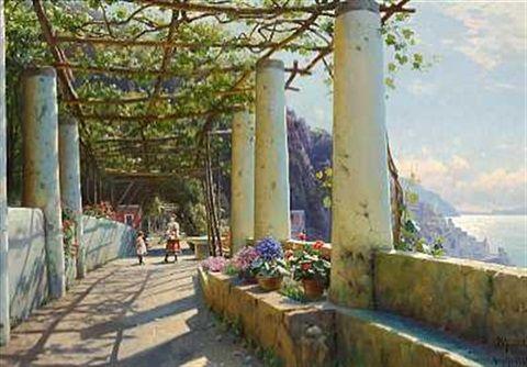 Pergola ved Hotel Cappuccini Convento. Amalfi , 1925