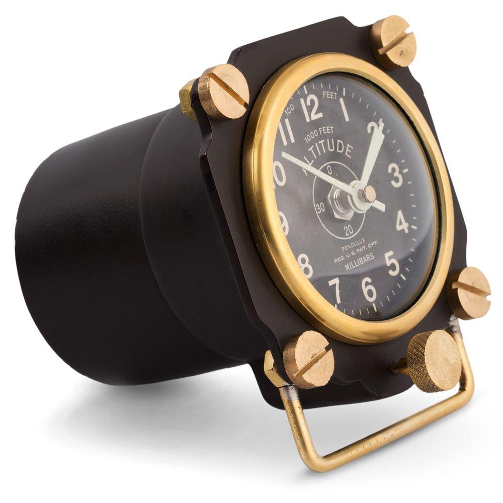 The Clock Brings A Unique Style To The Genre Of Timekeeping Isn T It Http Www Clocksaroundtheworld Com Altimeter Cloc Table Clock Black Aviators Desk Clock