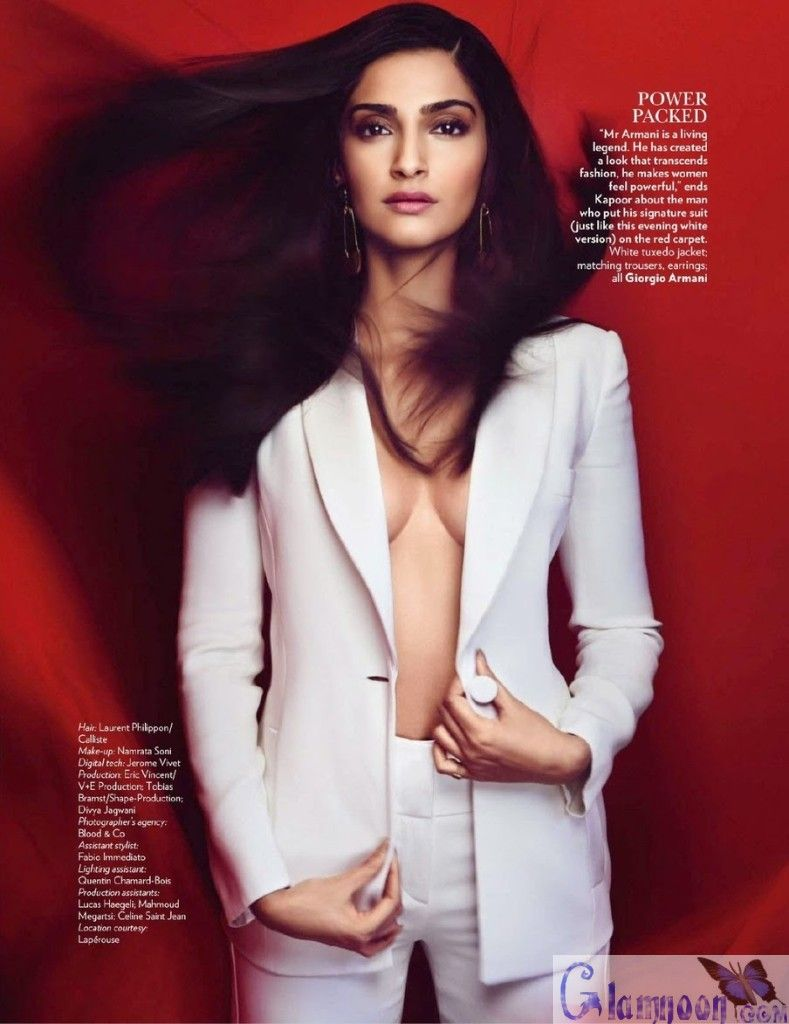 Sonam Kapoor Without Bra Photoshoot At Vogue India -7465