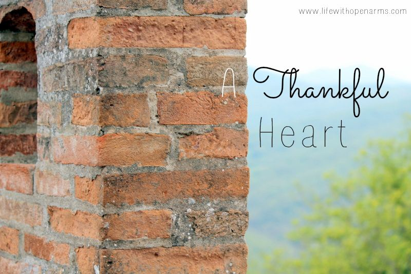 A thankful heart thankful heart thankful one thousand