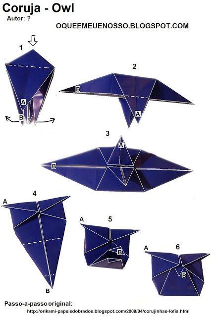 Vem Da Terra Coruja Em Origami Ou Orinuno Paper Crafting Ooh La