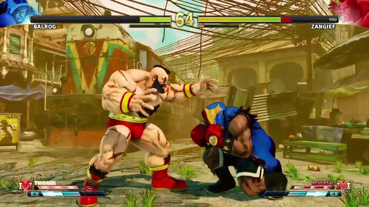 STREET FIGHTER V BALROG VS ZANGIEF PS4 GAMEPLAY YouTube