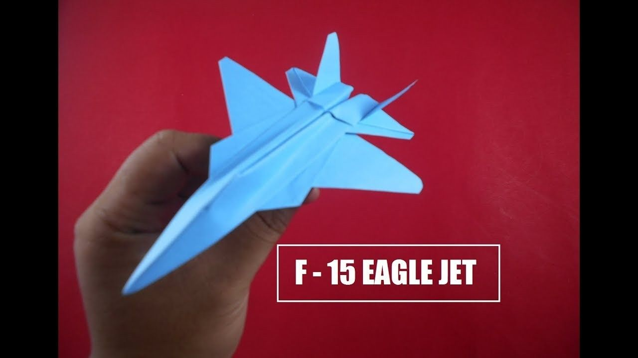 How To Make Paper Airplane Easy Paper Plane Origami Jet Fighter Is Cool F 15 Eagle Jet Origami Plane Origami Jet Fighter Paper Airplanes