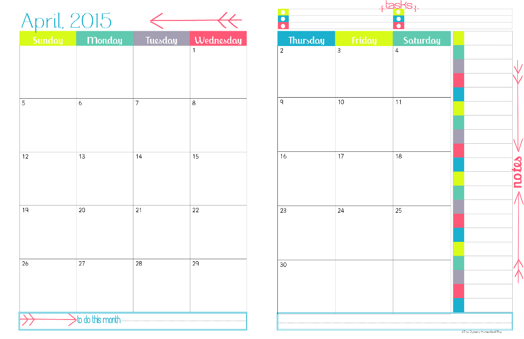 Physical Year Calendar  Monthly Calendar  Planners And