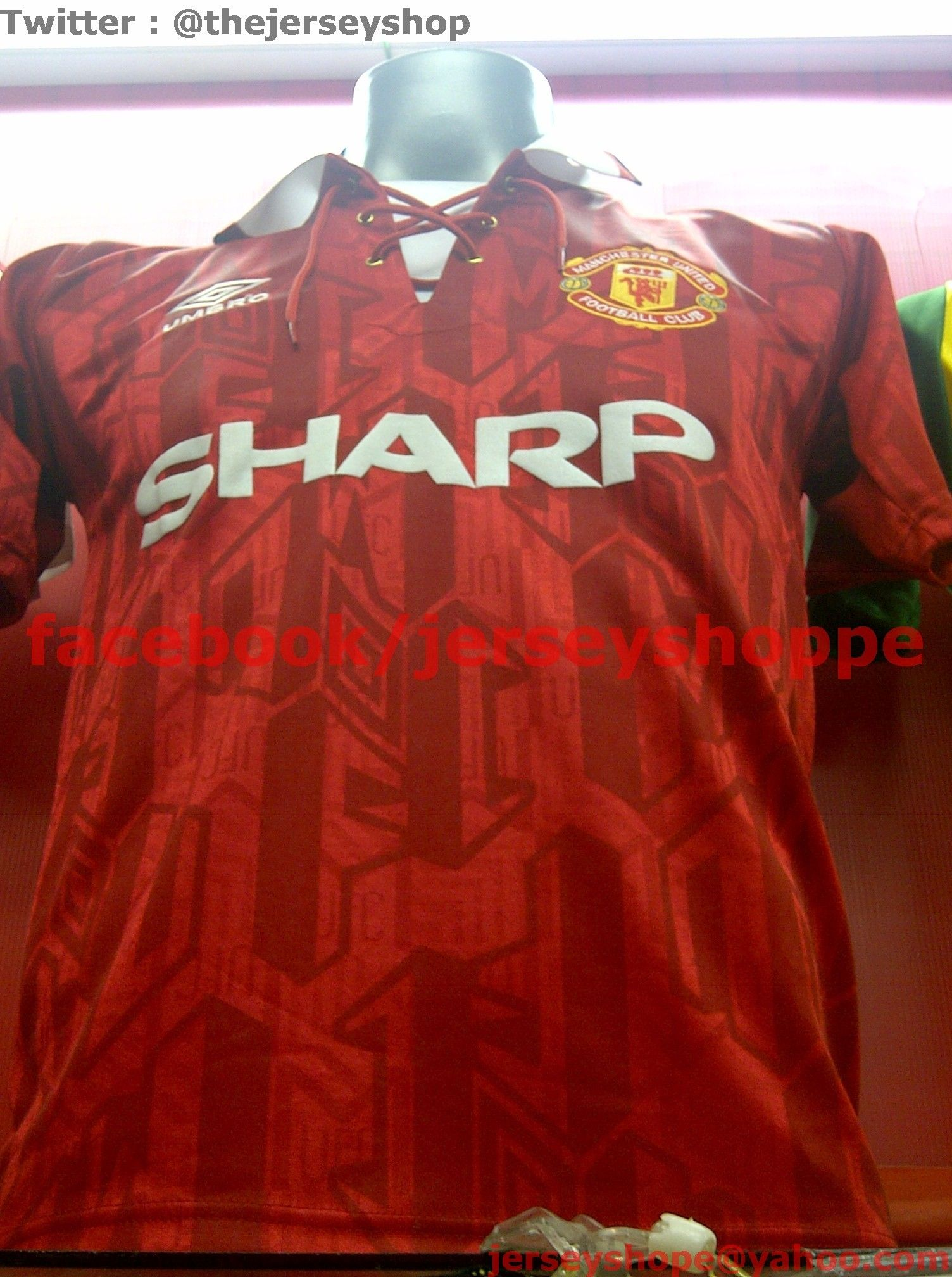 340d5552 Manchester United 1992 HOME Vintage Jersey Conditon: New Replica ...