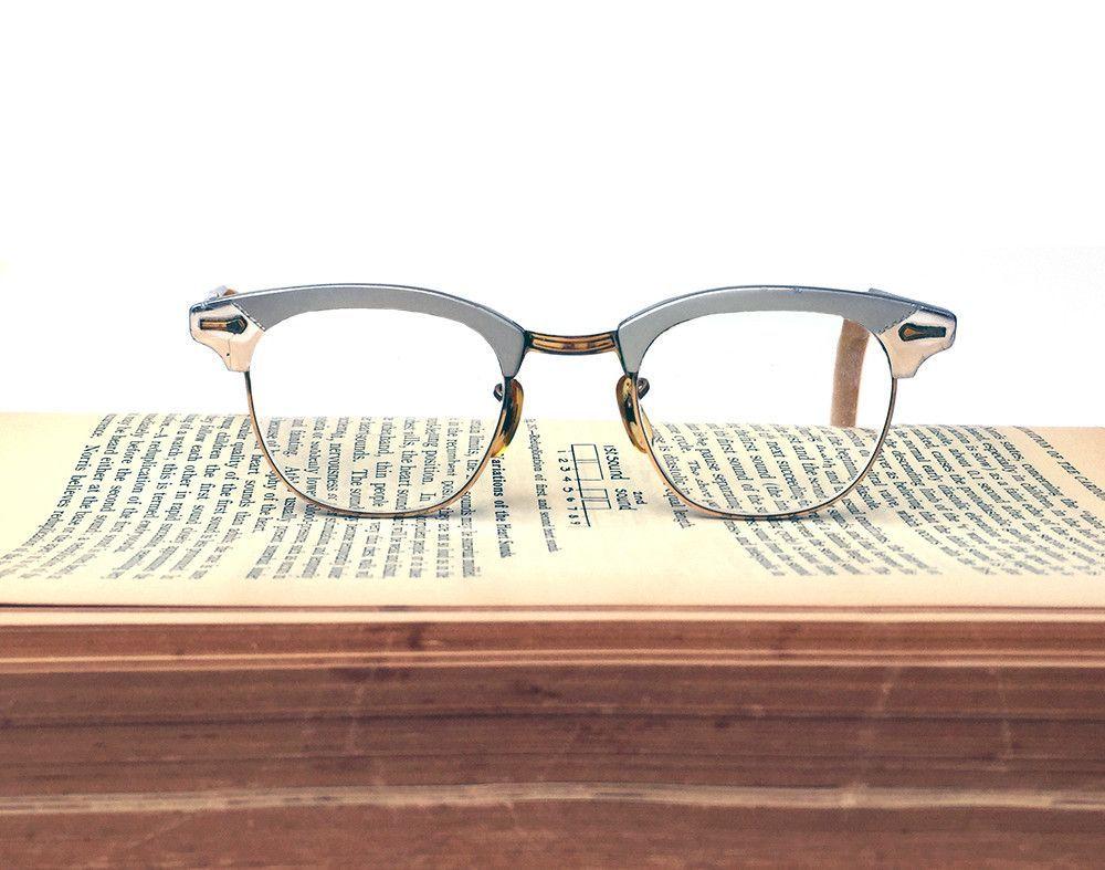 7468b8db3e28 Vintage Shuron Horn-rimmed Aluminum 12K Gold Filled Frame 5 3/4 Eyeglasses, Vintage  Eyeglass Frames