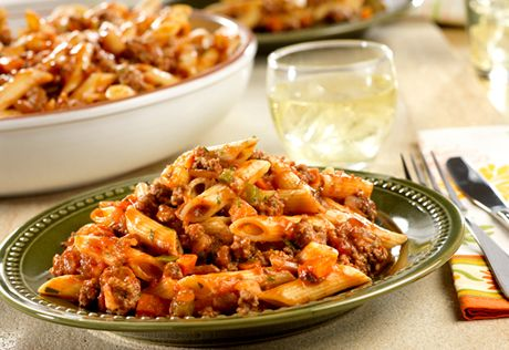 Quick Spicy Beef With Penne