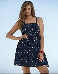 Beach To Beach Navy Spot Beach Dress