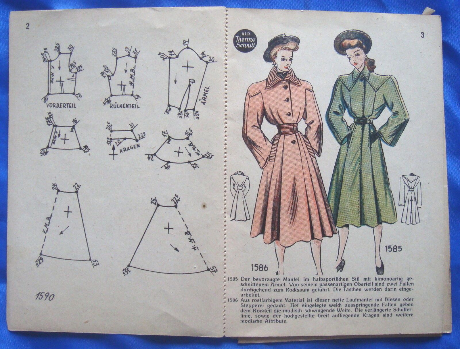 vintage Lutterloh Golden Rule DER THERMO SCHNITT drafting sewing ...