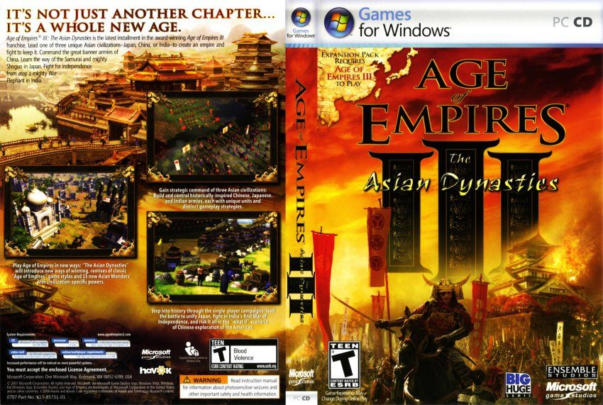 Age Of Empires Iii The Asian Dynasties Developed By Ensemble