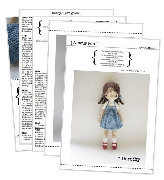 Dorothy Crochet Pattern by Amour Fou por AmourFouCrochet en Etsy