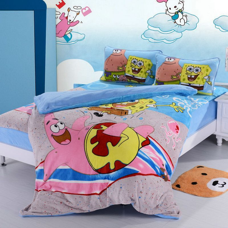 Spongebob Sky Blue Style2 Kids Bedding Duvet Cover Set