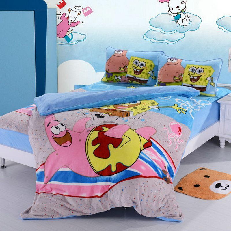 Spongebob Sky Blue Style2 Kids Bedding Duvet Cover Set