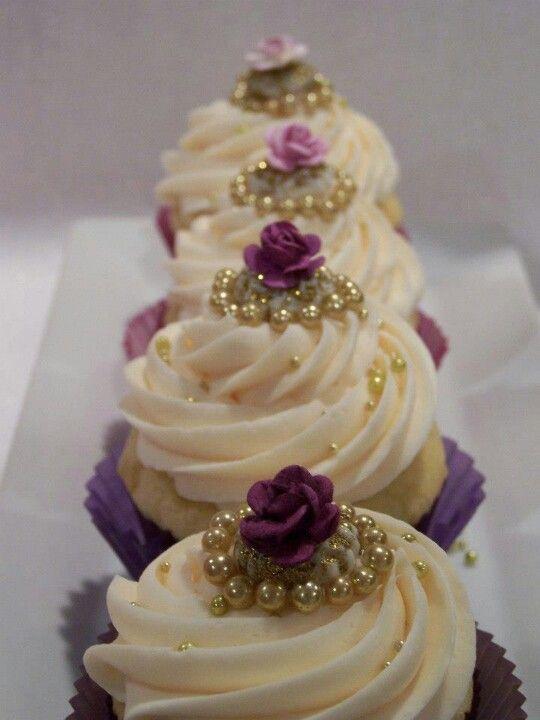 Purple Ombre` Cupcakes | Cupcake heaven, Gourmet cupcakes ...