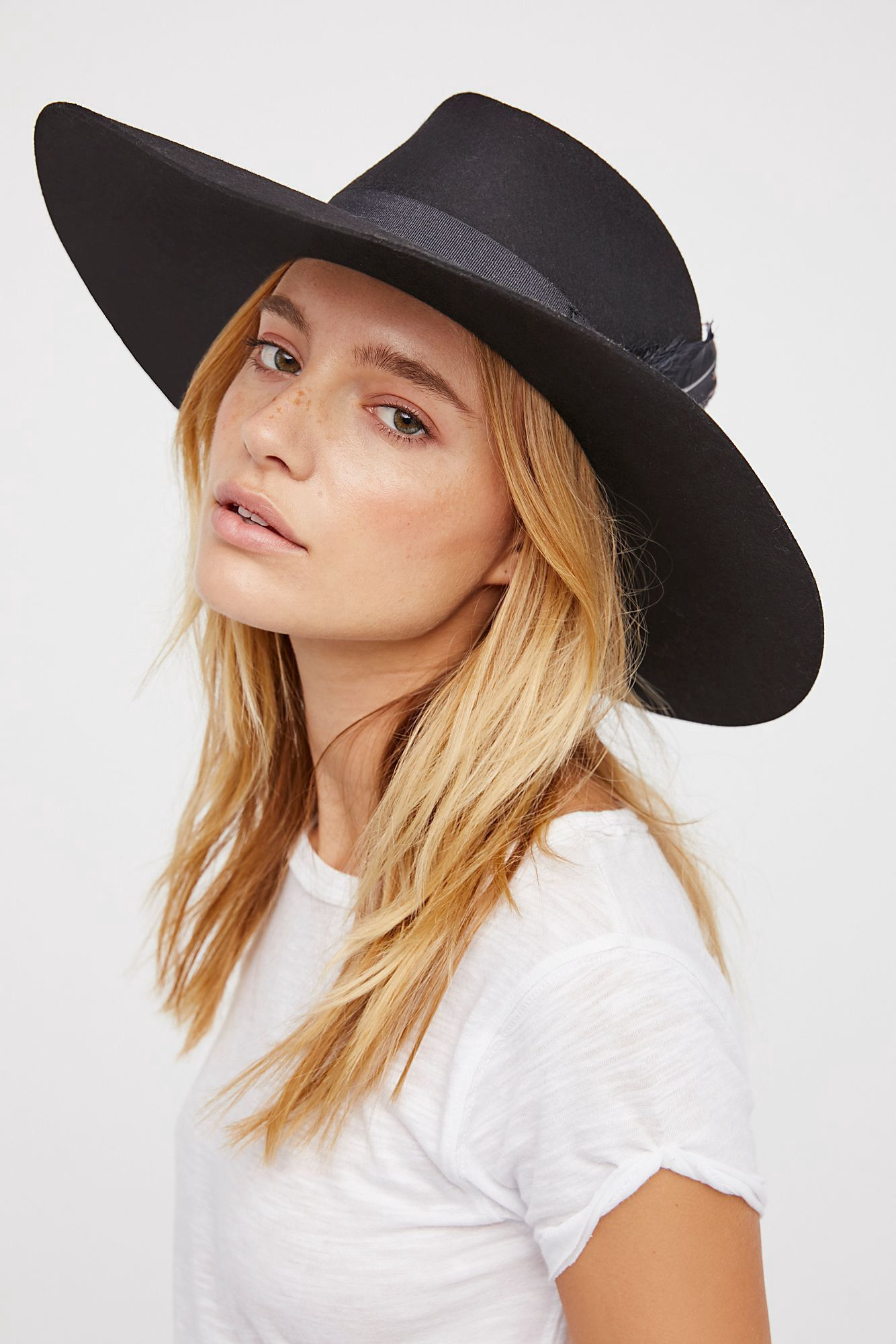52ec723ba9942d Free People Bandidas Feather Band Hat - Off White One Size | Women ...