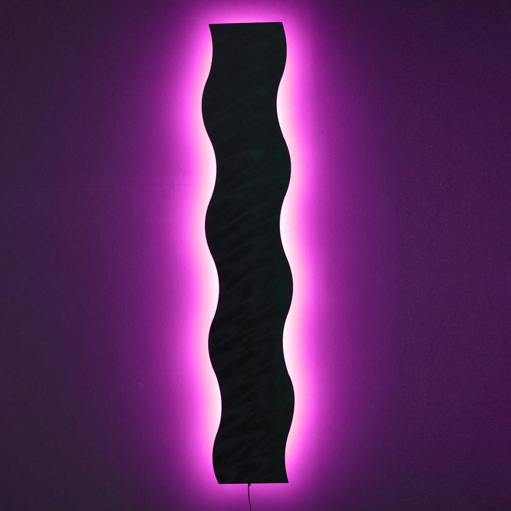 """""""Light Wave"""" with Smartphone WiFi Control - Abstract Metal ..."""