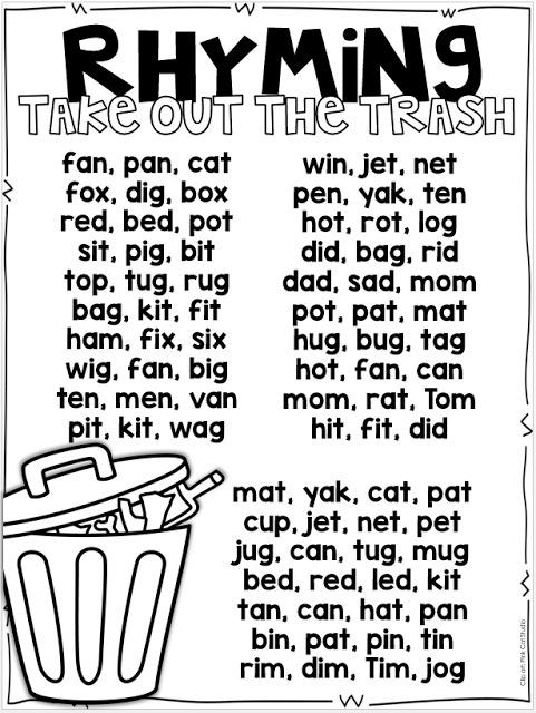 Worksheet Rhyming Words Examples all about rhyming freebies included free rhymes group included