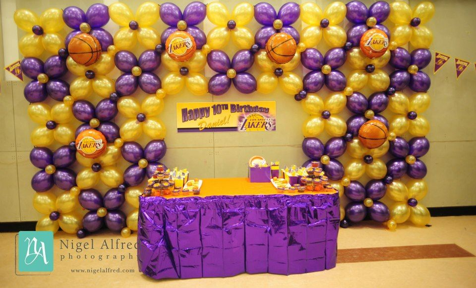 Basketball Theme Birthday Party Balloon Decorations Pinterest