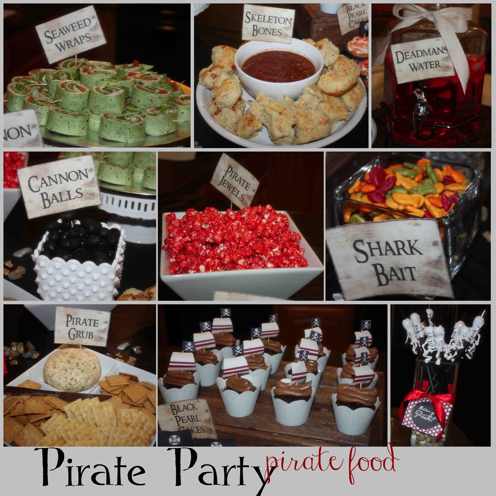 More Pirate Party Ideas, Recipes