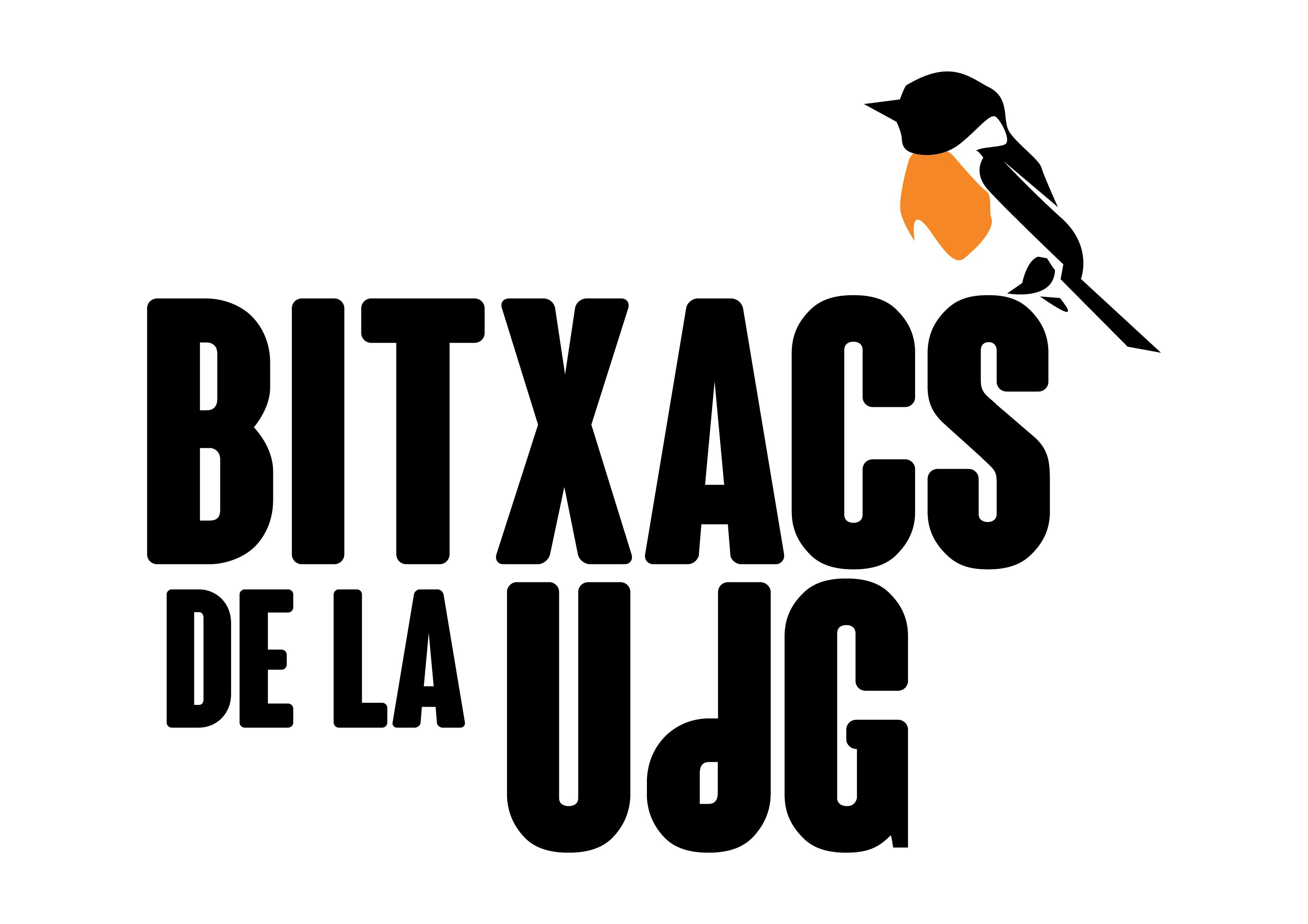 Logo Bitxacs de la UdG. Positiu. Logan