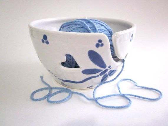 Adorable yarn ball holder