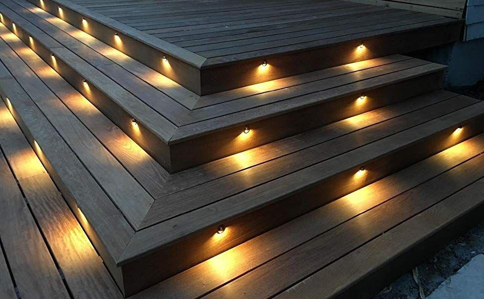 Wifi Controlled 10pcs Low Voltage Led Outdoor Stair Lighting Step Lighting Outdoor Deck Stair Lights