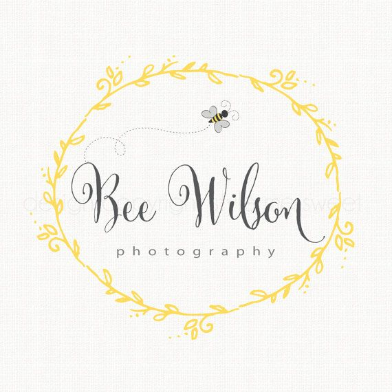 this premade bee frame logo design would be perfect and affordable for your small business
